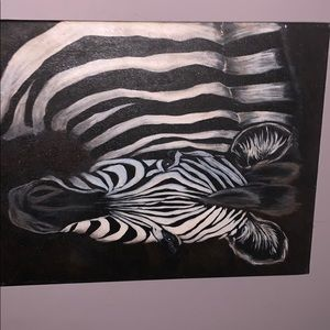 Other - Zebra painting wall canvas